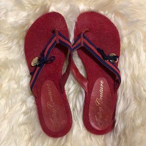 Authentic Juicy Couture flip flops! Size 7!